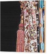 Nice Curtain Wood Print by Tom Gowanlock