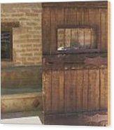 Nice Old Door Wood Print
