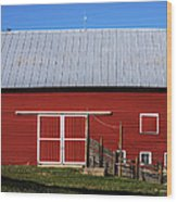 Nice Red Barn Wood Print