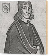 Nicholas Culpeper, English Physician Wood Print by Middle Temple Library
