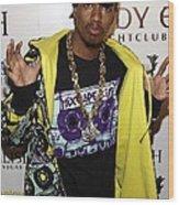 Nick Cannon At Arrivals For Nick Cannon Wood Print