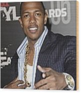 Nick Cannon At Arrivals For The Stuff Wood Print