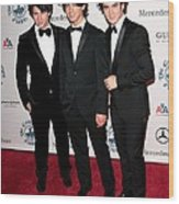 Nick Jonas, Joe Jonas, Kevin Jonas Wood Print by Everett