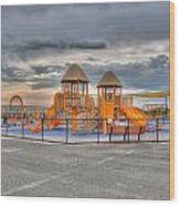 Nickerson Beach Play Area Wood Print