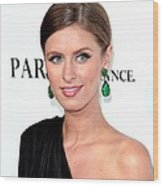 Nicky Hilton At Arrivals For Paris, Not Wood Print by Everett