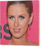 Nicky Hilton Wearing A Mouawad Necklace Wood Print by Everett