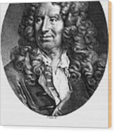 Nicolas Boileau (1636-1711). French Critic And Poet. Lithograph, French, 19th Century Wood Print