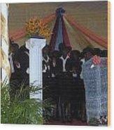 Nigerian Church Choir Wood Print