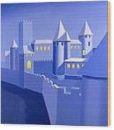 Night Castle Wood Print
