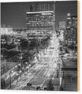Night City Wood Print
