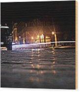 Night Cops Wood Print