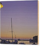 Night Falls Over Rovinj Wood Print