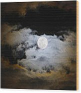 Night Of The Full Moon Wood Print