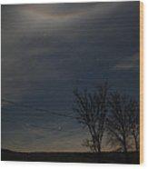 Night On The Farm Wood Print