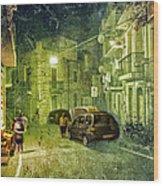 Night Scene In Sicily 2 Wood Print