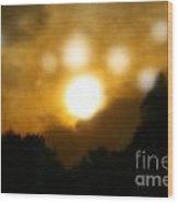 Night Sun Wood Print