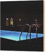 Night Swim Anyone Wood Print