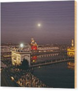 Night View Of Amritsar Wood Print