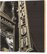 Nightfall At The Orpheum - San Francisco California - 5d17991 - Sepia Wood Print