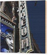 Nightfall At The Orpheum - San Francisco California - 5d17991 Wood Print