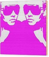 Niki Mirror Pink Wood Print