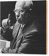 Nikita Khrushchev Wood Print