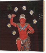 Nikko Red Figure Wood Print