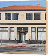 Niles California Banquet Hall . 7d12736 Wood Print by Wingsdomain Art and Photography