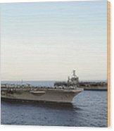Nimitz-class Aircraft Carriers Transit Wood Print
