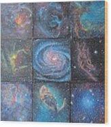 Nine Nebulae Wood Print