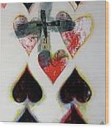Nine Of Hearts 21-52 Wood Print