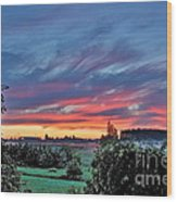 Nisqually Valley Sunrise Wood Print