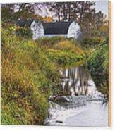 Nisqually Wildlife Refuge P21 The Twin Barns Wood Print