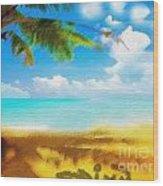 Nixo Landscape Beach Wood Print