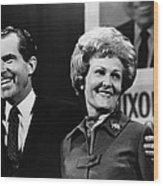 Nixon Presidency. Us President-elect Wood Print by Everett
