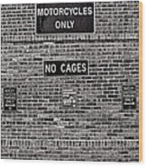 No Cages Wood Print