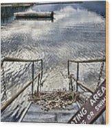 No Fishing Wood Print