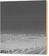No Passing Zone Vermilion Cliffs Arizona Wood Print