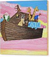 Noah's Ark Wood Print by Christie Minalga