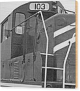 Noir Et Blanc Engine 103 Wood Print
