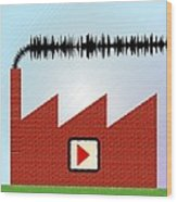 Noise Pollution, Conceptual Image Wood Print