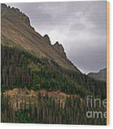 Nokhu Crags Colorado Wood Print by Michael Kirsh
