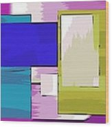 Nombre Abstrait 11 Wood Print