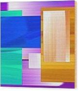 Nombre Abstrait 7 Wood Print