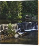 Nora Mill Falls Wood Print