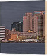 Norfolk Waterfront Color Wood Print