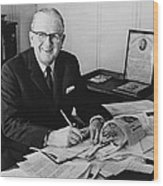 Norman Vincent Peale Was An American Wood Print by Everett