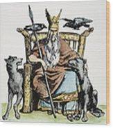 Norse God Odin (woden) Wood Print