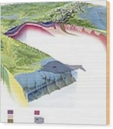 North American Geology And Oil Slick Wood Print by Gary Hincks