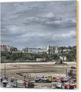 North Beach From Tenby Harbour Wood Print